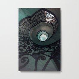 Pretty Ornamented Staircase Metal Print