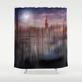City-Art VENICE Gondolas at Sunset Shower Curtain