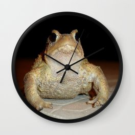Close Up Portrait of A Common Toad Wall Clock