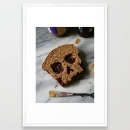 88. Peanut Butter and Skully Framed Art Print