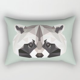 R is for Raccoon Rectangular Pillow