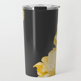 Yellow Flowers On A Dark Background #decor #society #homedecor Travel Mug