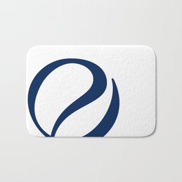Foulard for You: White and Navy Bath Mat