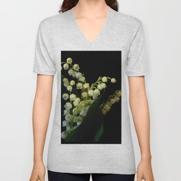 lilly of the valley 3 Unisex V-Neck
