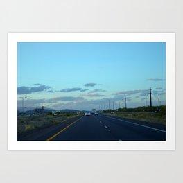 The Long Road Head Art Print