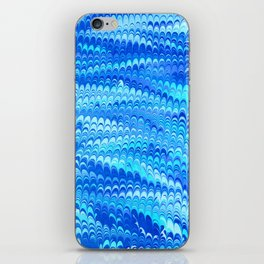 Marbled Non-pareil Blue iPhone Skin