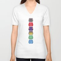 doors V-neck T-shirts featuring MST3K Doors  by avoid peril