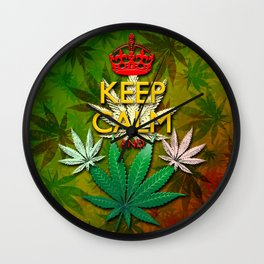 Keep Calm and...Marijuana Leaf! Wall Clock