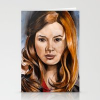 amy pond Stationery Cards featuring Amy Pond by Hannah D