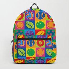 Pop Art Sports Balls Backpack
