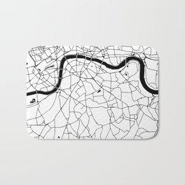London Minimal Map Bath Mat