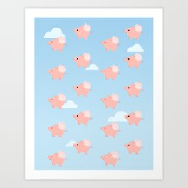 When Pigs Fly Art Print