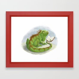 Intelligent Iguana Framed Art Print