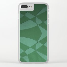 Wings and Sails - Green and Light Green Clear iPhone Case