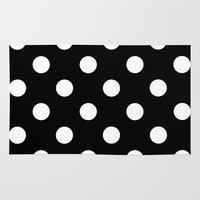 dot Area & Throw Rugs featuring Dot Dot Dot  by Spotted Heart