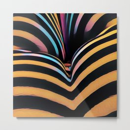 2026s-AK Striped Body Curves by Chris Maher Metal Print
