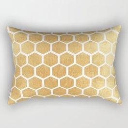 Gold honey bee Rectangular Pillow