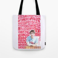 arctic monkeys Tote Bags featuring Bigger Boys and Stolen Sweethearts - Arctic Monkeys by Frances May K