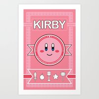 kirby Art Prints featuring Kirby Poster by Amanda Blauser