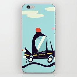Cartoon Police Car iPhone Skin