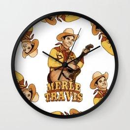 Merle Travis Wall Clock
