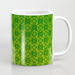 D20 Druid Ranger Crit Pattern Premium Coffee Mug