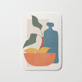 Minimalist Still Life Art Bath Mat