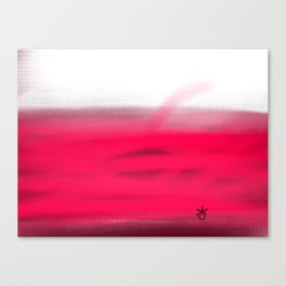 Pink Fields Abstract Painting - Dreaming in Nature Canvas Print