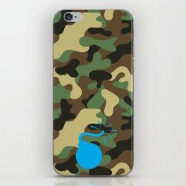 CAMO & LIGHT BLUE BOMB DIGGITY iPhone Skin