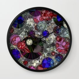 Planets Stardust And Jello Shots Wall Clock
