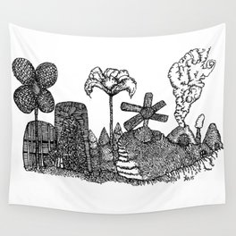 Flower tower Wall Tapestry