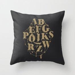Type Splatt Throw Pillow