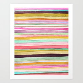 Colorful Stripes One Art Print