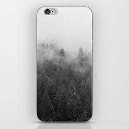 Black and White Mist Ombre iPhone Skin