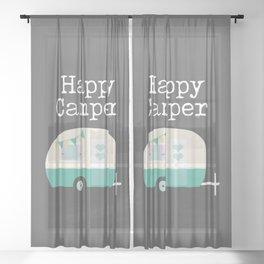 Happy Camper Sheer Curtain
