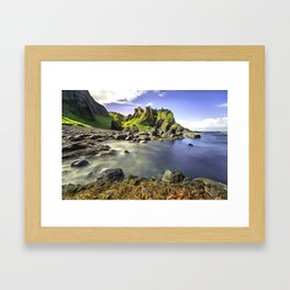 Dunluce Castle, Ireland. (Painting) Framed Art Print