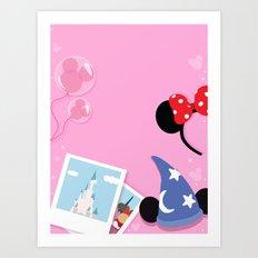 Fairytale Fangirl 2 Art Print