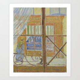 View of a Butcher's Shop Art Print