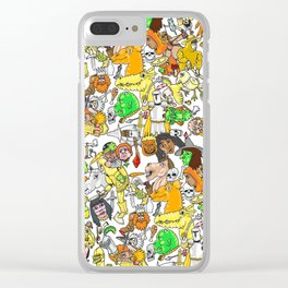 Medieval Roundup Clear iPhone Case