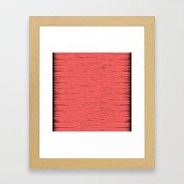 LIVING CORAL - WITH DARK FRAYED EDGES Framed Art Print