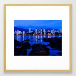 Kitsilano Beach Framed Art Print