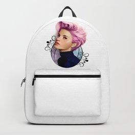 girl_pink hair Backpack