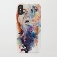 death iPhone & iPod Cases featuring this thing called art is really dangerous by agnes-cecile