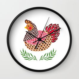 The Brown Hen Wall Clock