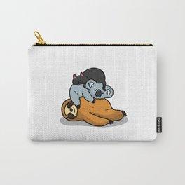 Cute Koala Cat Sloth Sleeping Carry-All Pouch