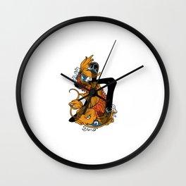 Koi Strength Wall Clock