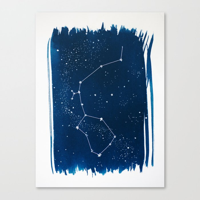 Aquarius Zodiac Print Canvas Print