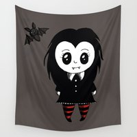 vampire Wall Tapestries featuring Vampire by Chrystal Elizabeth