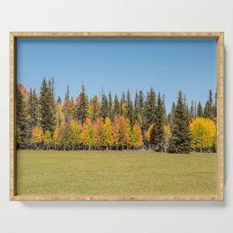 Autumn Colors - II, North_Rim Grand_Canyon, AZ Serving Tray
