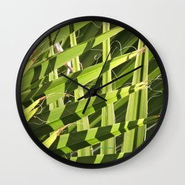 TEXTURES -- Palm Fronds Intersecting Wall Clock